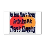 Shopping Therapy Rectangular Sticker