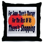 Shopping Therapy Throw Pillow