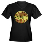 Flying Monkeys Women's V-Neck Dark T-Shirt