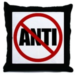 Anti-Anti Throw Pillow