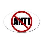 Anti-Anti Sticker (Oval)