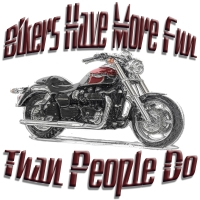 Bikers Have More Fun Than People Do