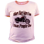 Bikers Have More Fun Jr. Ringer T-Shirt