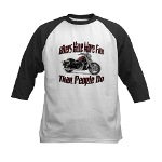 Bikers Have More Fun Kids Baseball Jersey