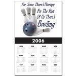 Bowling Therapy Calendar Print