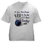 Bowling Therapy Ash Grey T-Shirt