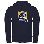 Chargers Bolt Shield Dark Hoodie