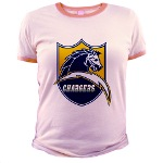 Chargers Bolt Shield Jr. Ringer T-Shirt