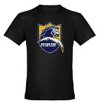 Chargers Bolt Shield Men's Fitted T-Shirt (dark)