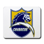 San Diego Lightning Bolt and Charger Horse Shield