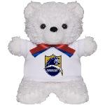 Chargers Bolt Shield Teddy Bear