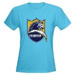 Chargers Bolt Shield Women's Dark T-Shirt