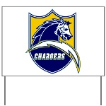 Chargers Bolt Shield Yard Sign