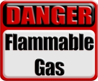DANGER: Flammable Gas Industrial 3D Metal Style Danger Warning Sign