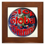 Stop Global Whining Framed Tile