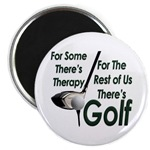 Golf Therapy Round Magnet