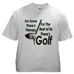 Golf Therapy Ash Grey T-Shirt