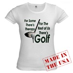 Golf Therapy Jr. Baby Doll T-Shirt
