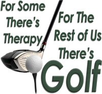 For some there's therapy, for the rest of us there's golf