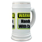 Handle With Care Warning  Beer Stein