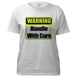 WARNING: Handle With Care Industrial Metal Style Caution Sign