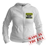 Handle With Care Warning  Jr. Hoodie