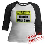 Handle With Care Warning  Jr. Raglan