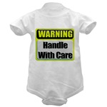 Handle With Care Warning  Infant Creeper
