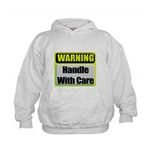 Handle With Care Warning  Kids Hoodie