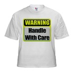 Handle With Care Warning  Kids T-Shirt