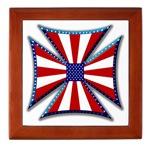 American Maltese Cross Tile Box