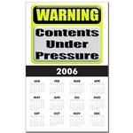 Contents Under Pressure Calendar Print