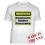 Contents Under Pressure Fitted T-Shirt