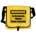 Do Not Operate Warning Messenger Bag
