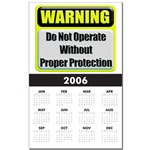 Do Not Operate Warning Calendar Print