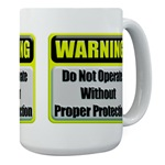 Do Not Operate Warning Large Coffee Mug