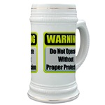 Do Not Operate Warning Beer Stein