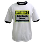 Do Not Operate Warning Ringer T-Shirt