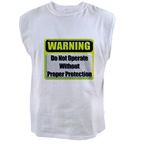 Do Not Operate Warning Men's Sleeveless Tee