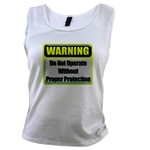 Do Not Operate Warning Women's Tank Top