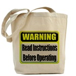 Read Instructions First  Tote Bag