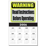 Read Instructions First  Calendar Print