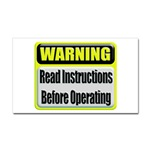 Read Instructions First Rectangular Sticker