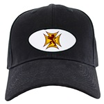 Royal Scottish Biker Cross Black Cap