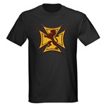 Royal Scottish Biker Cross Dark T-Shirt