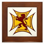Royal Scottish Biker Cross Framed Tile