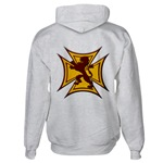 Royal Scottish Biker Cross Hooded Sweatshirt