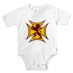 Royal Scottish Biker Cross Infant Bodysuit