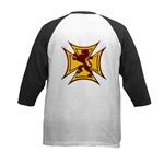Royal Scottish Biker Cross Kids Baseball Jersey