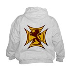 Royal Scottish Biker Cross Kids Hoodie
